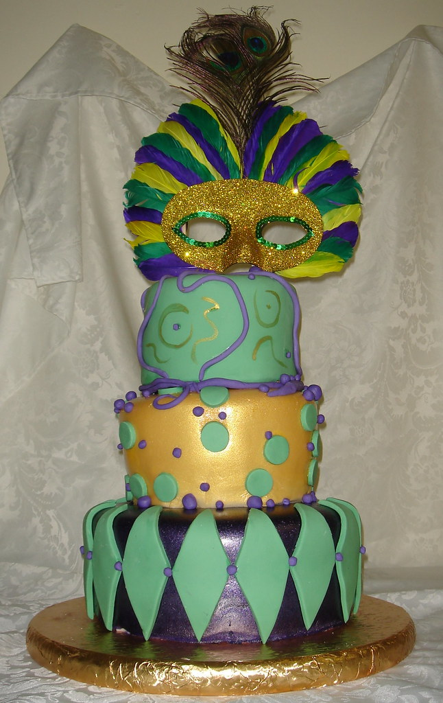 Miraculous Mardi Gras Birthday Cake Purple Green And Gold Mardi Gras Flickr Funny Birthday Cards Online Alyptdamsfinfo