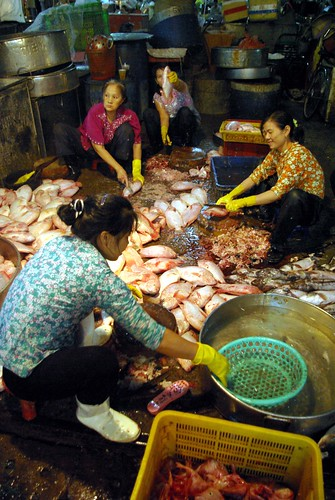 Cleaning Fish - - Chanh Hung Night Fish Market. Ho Chi Min City/Saigon | by The Hungry Cyclist