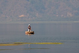 Fisherman on Lake Atitlan, Guatemala | by indiepepe