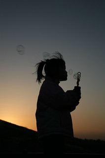 Silhouette Maddy with bubbles | by Donna & Andrew
