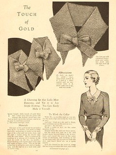 Knitted Collar Pattern : 1930s Knitted Collar - free pattern part 1 Download the la? Flickr