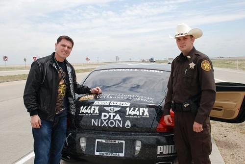 Crispin with a Texas State Trooper. | IAVA.org | Flickr