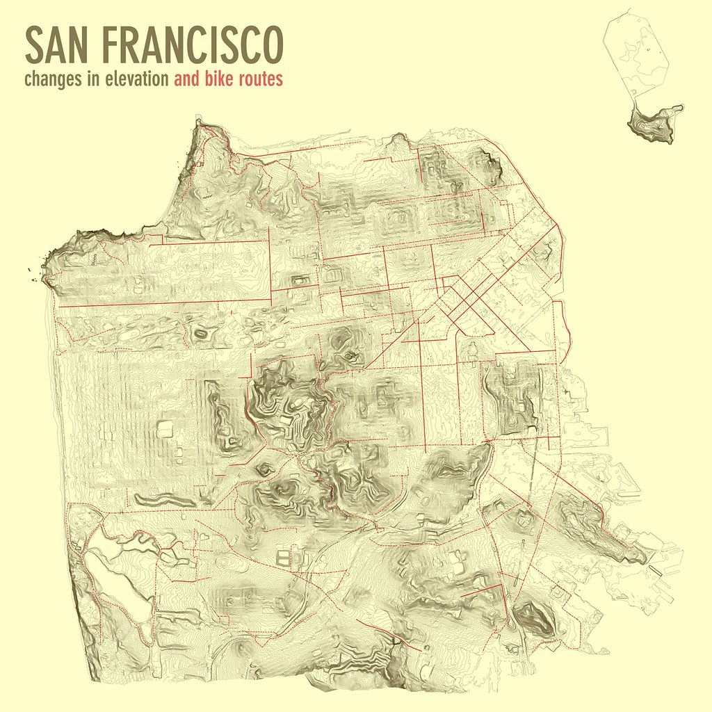 San Francisco Elevation Bike Routes This Is A Map Of Sa Flickr - San francisco bike map