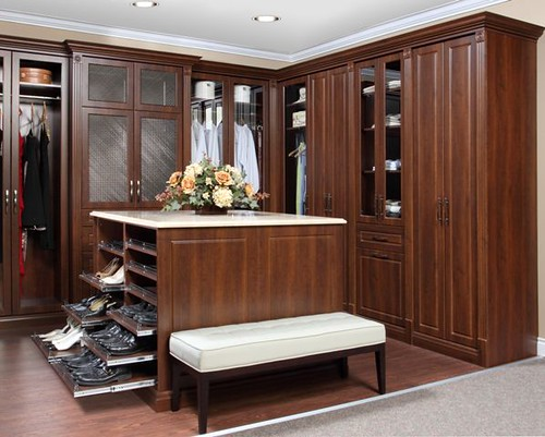 ... OrganizedInteriors Dream Closet With Pull Out Shoe Shelves   By  OrganizedInteriors