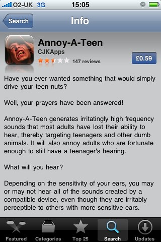 Think, Annoy a teen app agree