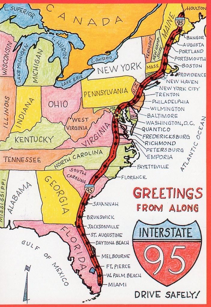 I 95 Map Florida.I95 Map Rtlbreakfastclub