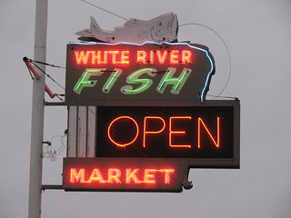 White river fish market neon sign could that be a grayer for Fish market tulsa
