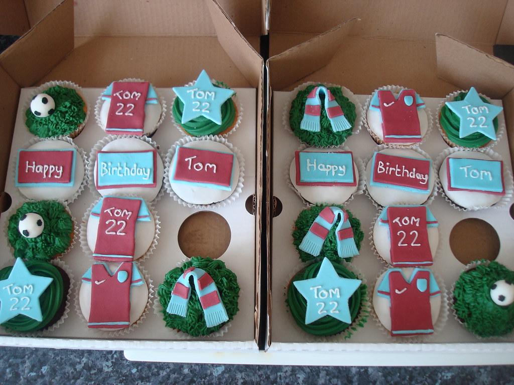 Aston Villa cupcakes for 22nd birthday Selection of vanill Flickr