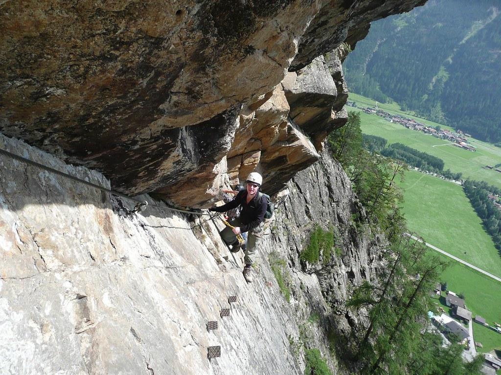 Klettersteig Austria : Klettersteig austria near the lehnwasserfall waterfall