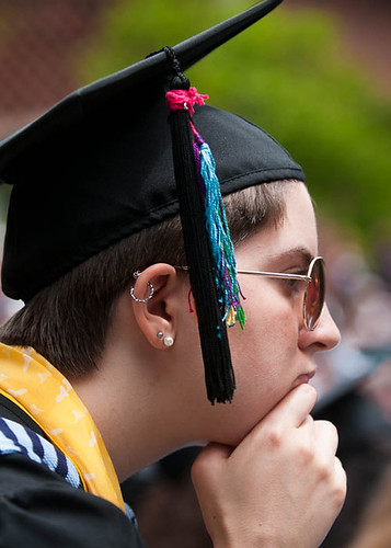 Graduate in deep thought | by Mount Holyoke College Communications Office