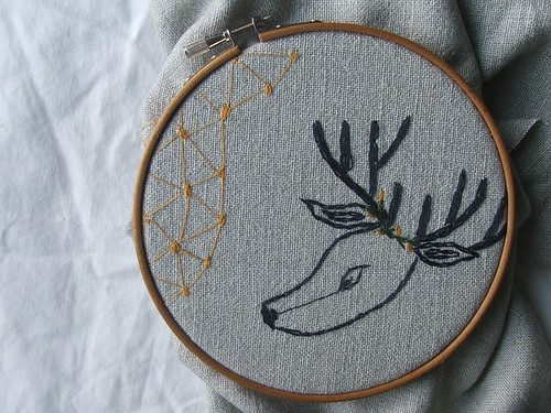 stars + deer embroidery | by tiny happy