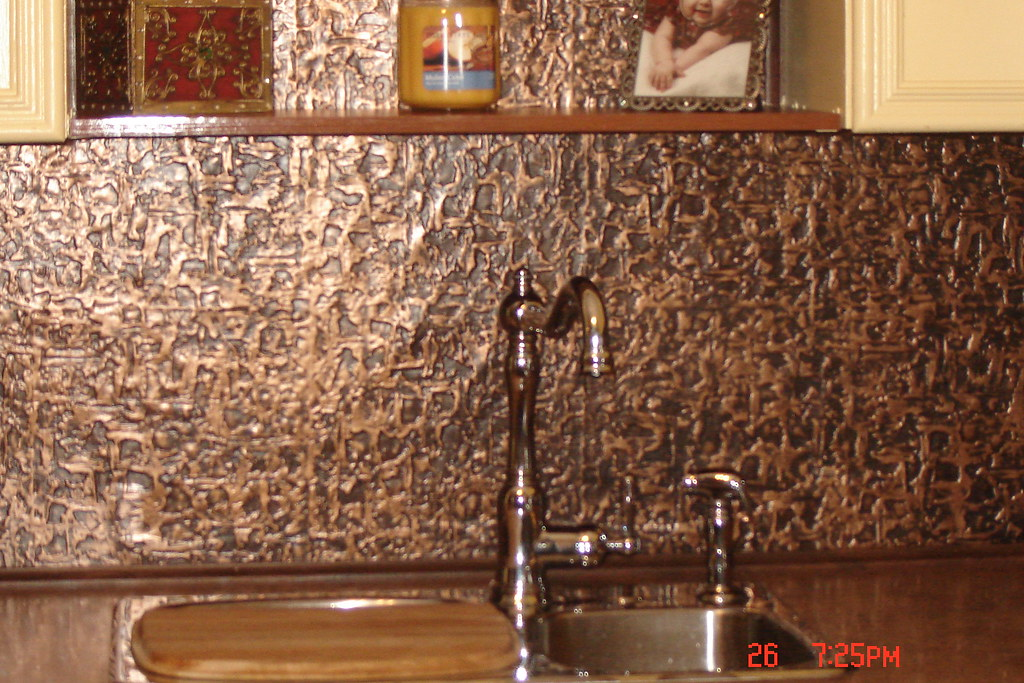 Faux Tin Backsplash Flickr