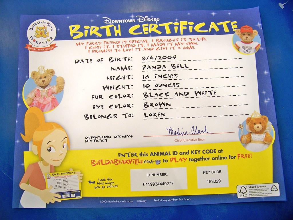Panda bells birth certificate loren javier flickr panda bells birth certificate by castles capes clones aiddatafo Image collections