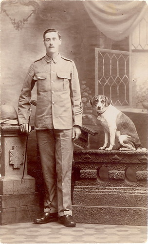 Pre WWI British Soldier and Foxhound with Shamrock | by sunnybrook100