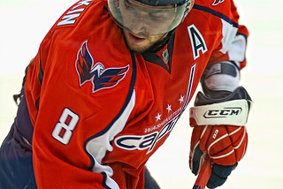 Ovechkin Waits For Puck | by clydeorama