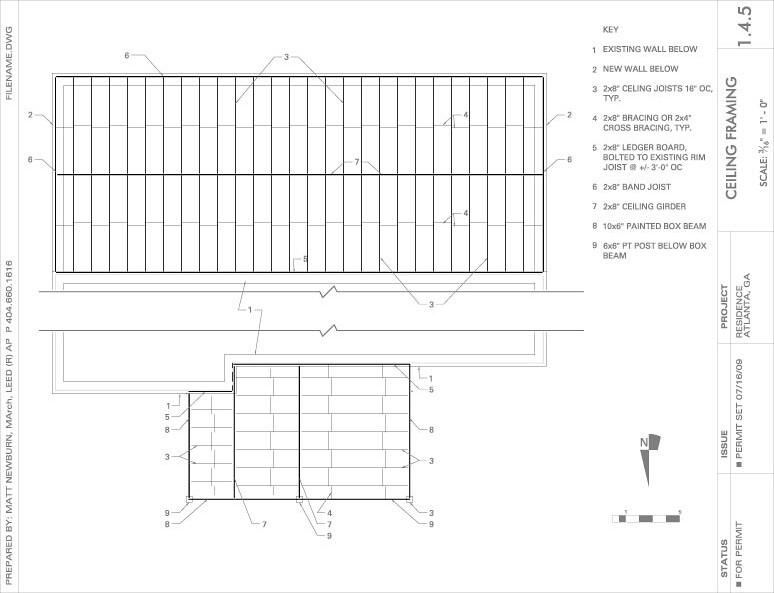 Ceiling Framing Plan   C. Matt Newburn   Flickr
