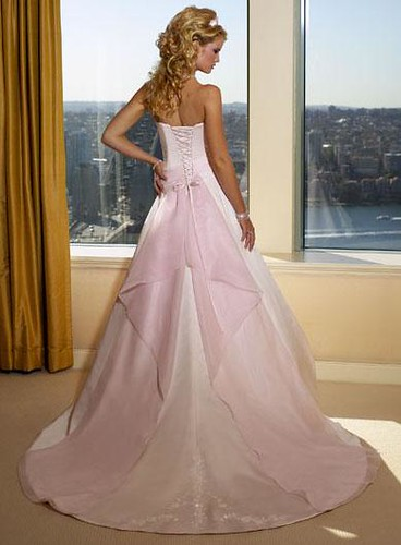 Beautiful Wedding Dresses With Pink Images - Styles & Ideas 2018 ...