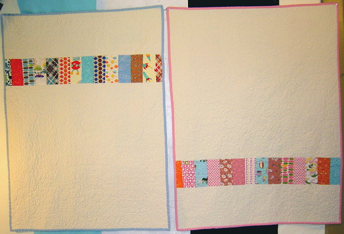 Two Baby Coin Quilts - Back | by alissahcarlton