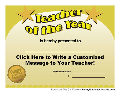 Free teacher of the year award certificate template flickr free teacher of the year award certificate template by larry weaver entertainment yelopaper