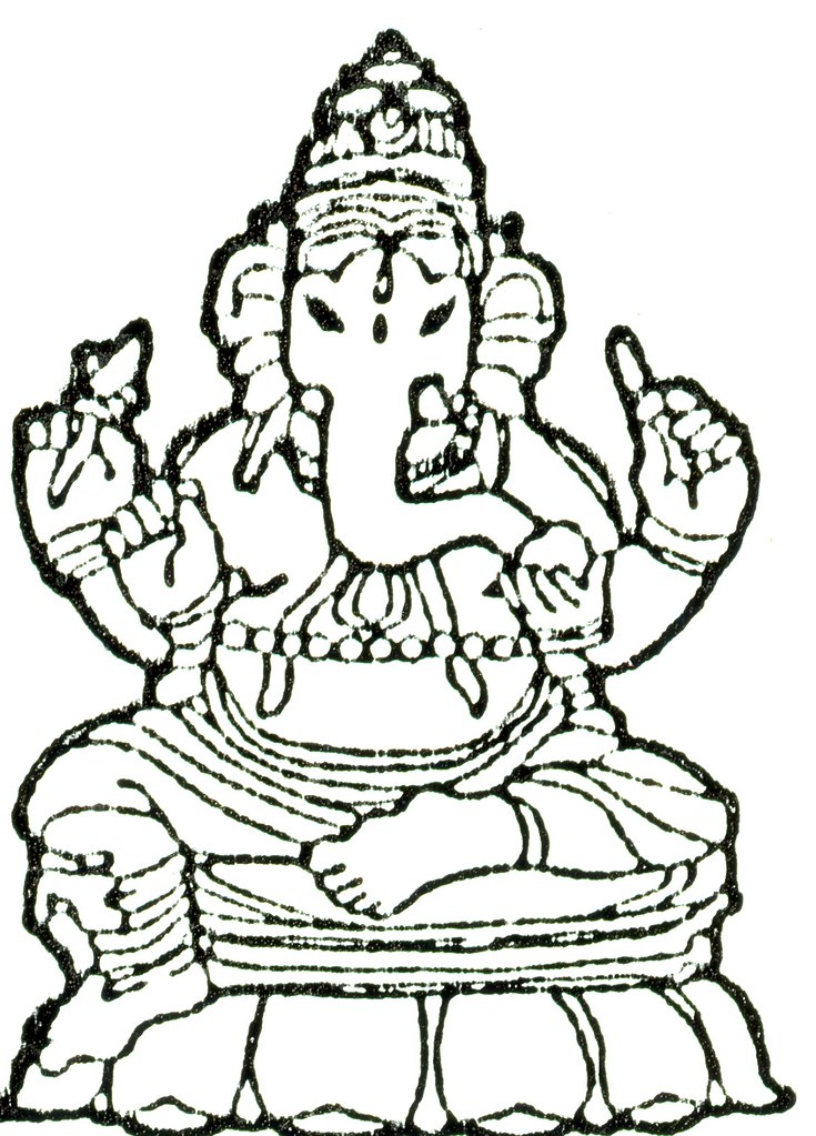 hindugod ganesh 2 by helm22000 best brother diwali colouring page
