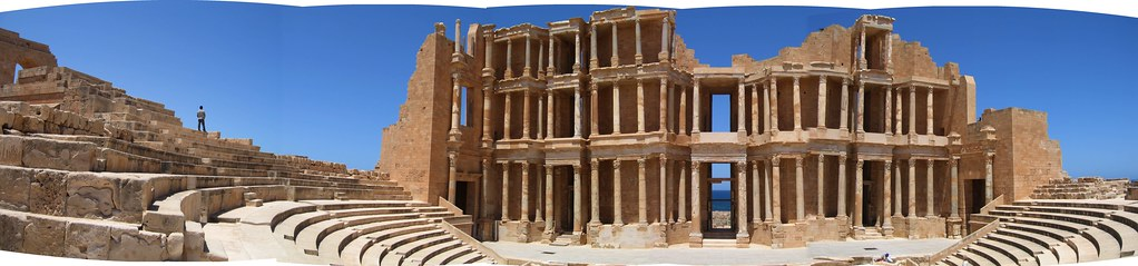 Panoramic view of the theatre, Sabratha