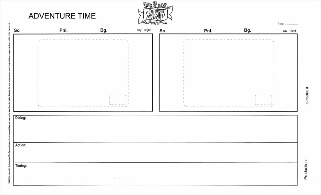 Adventure Time Storyboard Template