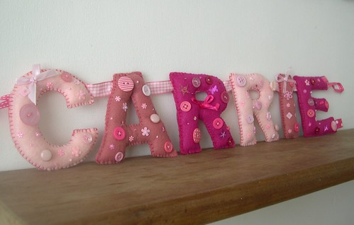 'Carrie' name garland by Heartfelt Handmade | by heartfelthandmade