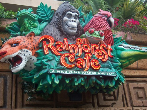 Rainforest Cafe Downtown Disney Dinner Reservations