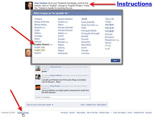 facebook Pirate Instructions | by libraryman