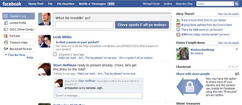 Pirate facebook Interface | by libraryman