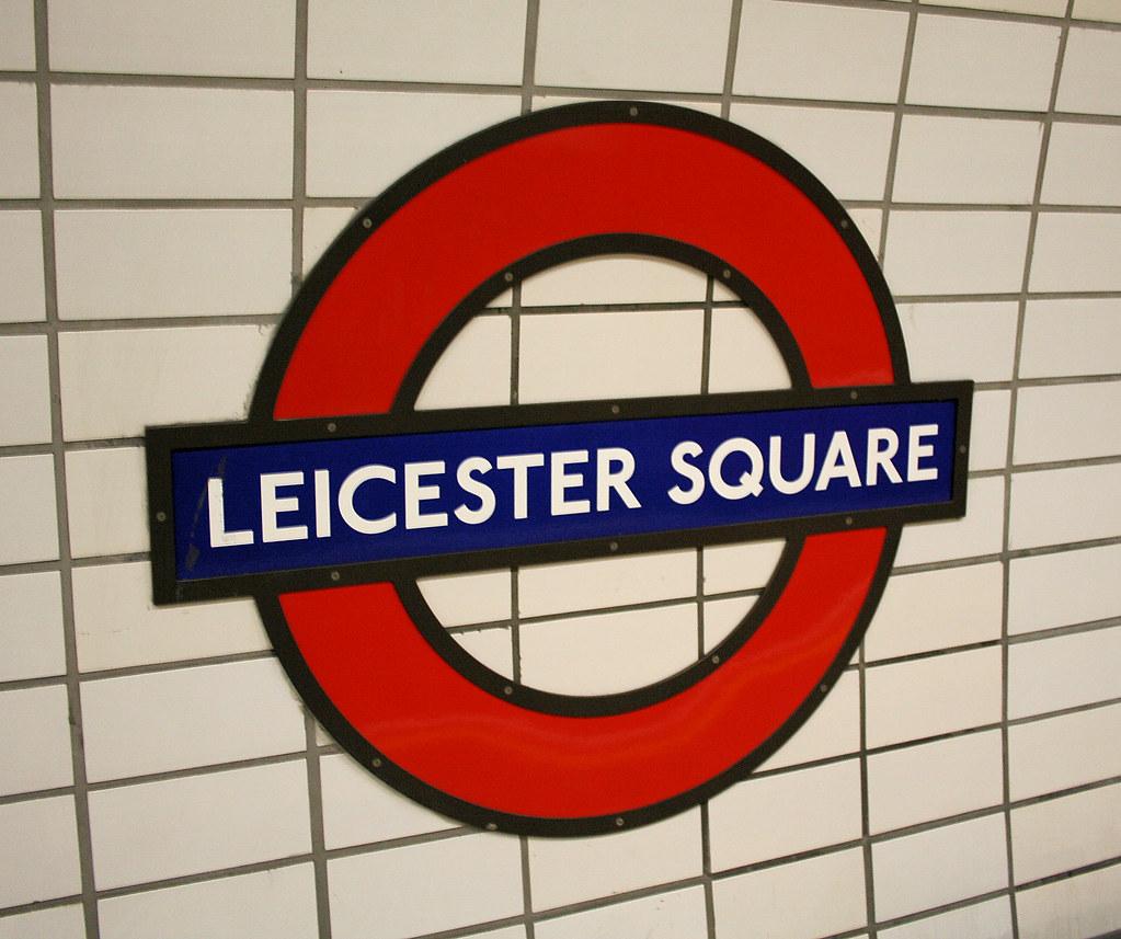 Leicester Square Underground Station 1980s Roundel Bowroaduk