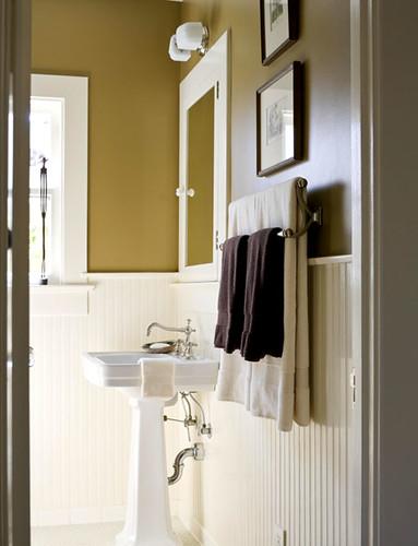 Etonnant ... Ideas For The Bathroom: Classic Brown + White + U0027Walnutu0027 By Ralph Lauren