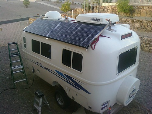 Test fitting of the #solar panels on our Oliver Travel Trailer | by AFresh1