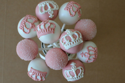 Pink and White Princess Cake Pops | by Sweet Lauren Cakes