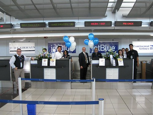 jetblue 39 s san jose costa rica ticket counter officially flickr. Black Bedroom Furniture Sets. Home Design Ideas