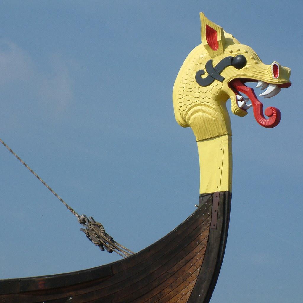 dragon figurehead on the u0027hugin u0027 figurehead from the repli u2026 flickr