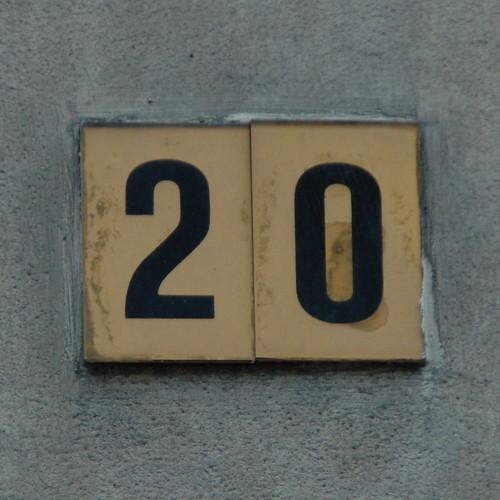 Number 20 house number monceau flickr for Number 16 house