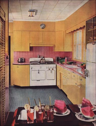 1950s kitchen design with a chambers range the colors for Retro kitchen designs rustenburg