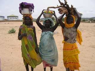 Women carrying sticks and water.  (Dr. Kirsten Johnson) | by physiciansforhumanrights