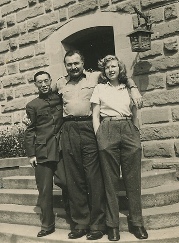 Ernest Hemingway, Martha Gellhorn, and unidentifed person ...