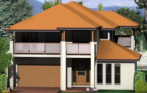Berry traditional highset house design 4 bed 2 5 bath for Highset house plans