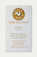 White Rock Business Card | by Cranky Pressman