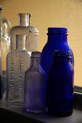 Vintage Blue bottles | by binah06