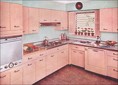 1955 Kitchen with Capitol Steel Cabinets | by American Vintage Home