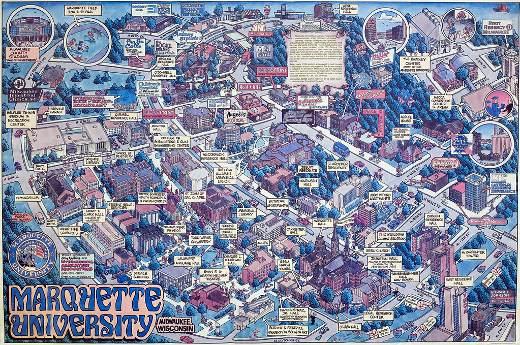 Marquette University Map 1988 89 Marquette University campus map | This unofficial Ma… | Flickr Marquette University Map