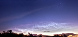 Delights of the summer Sky: Noctilucent Clouds & Iridium Flare | by Donegal Skies