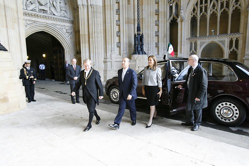 President of Mexico and the Mexican First Lady arrive at Parliament | by UK Parliament