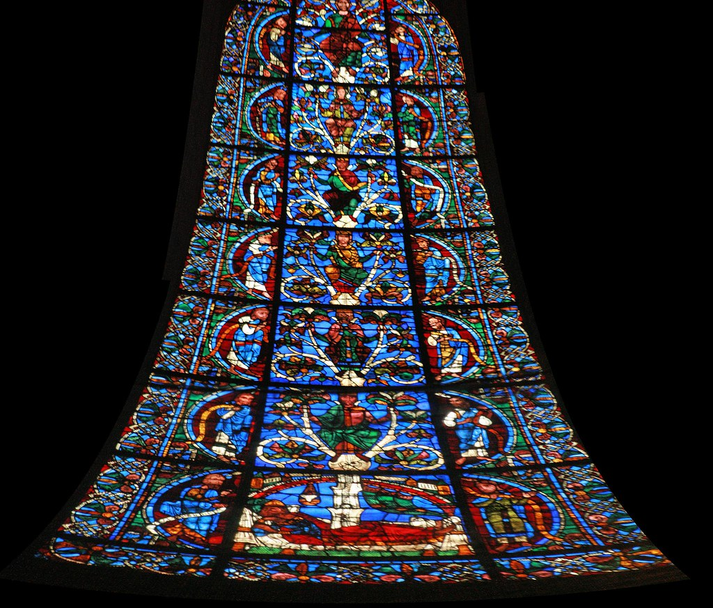 why is the jesse tree a common stained glass motif