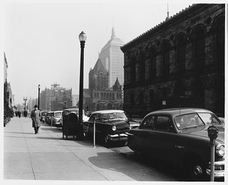 50 ft. Intervals, Boylston Street, Boston Public Library at Right, Trinity Church and John Hancock Building in Background, 12:00 P.M. to 3:30 P.M. | by MIT-Libraries