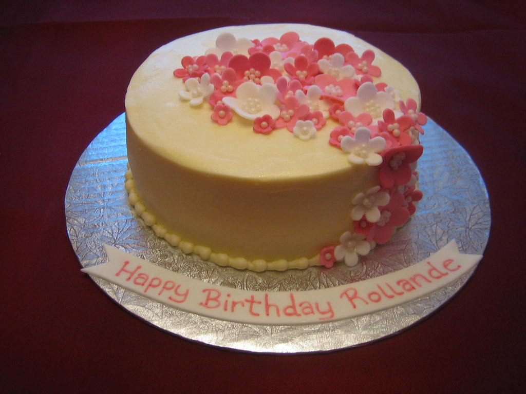 Pink Flower Birthday Cake Pink Flower Birthday Cake with f Flickr